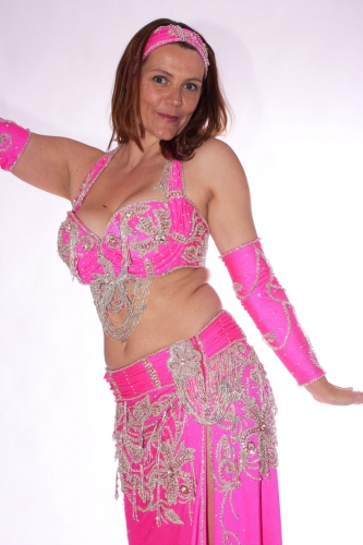 Belly dance costume - Frosted Pink