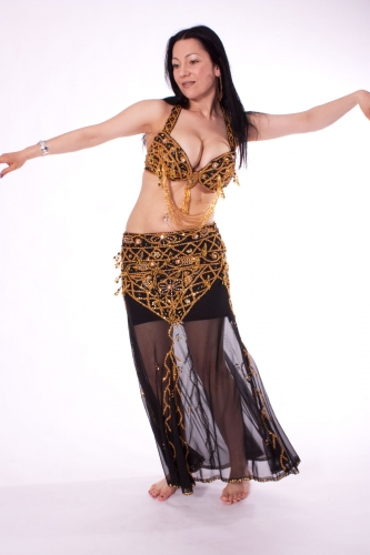 Belly dance costume - Dark Delight