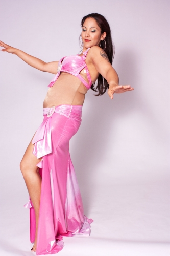 Belly dance costume - Wetlook Baby Pink