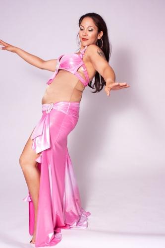 Belly dance costume - Wetlook Baby Pink