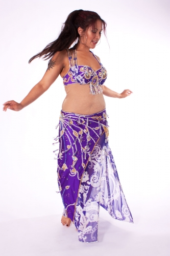 Belly dance costume - Purple Fusion