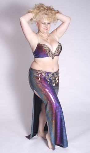 Belly dance costume - Rainbow Shimmer