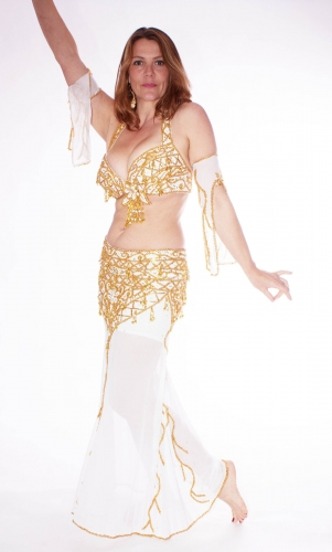 Belly dance costume - Snowstorm