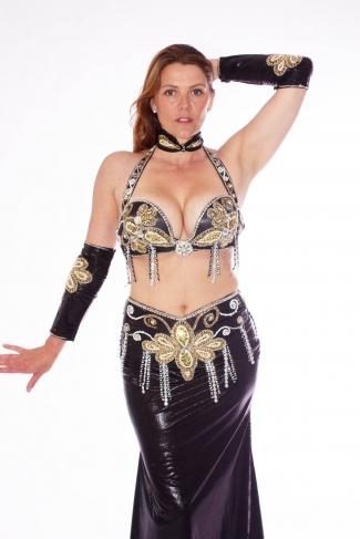 Belly dance costume - Wetlook Noir