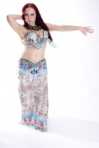 Belly dance couture costume - Pharaoh's Princess