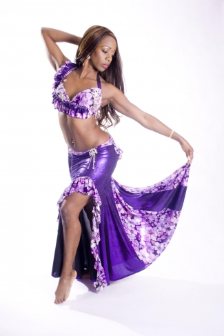 Belly dance couture costume - Floral Fantasy