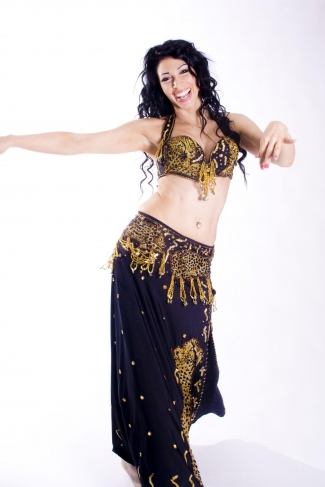 Belly dance couture costume - Cheetah Chiquita!