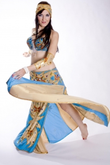 Belly dance couture costume - Egyptian Sun
