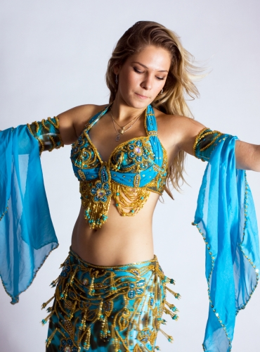 Belly dance cabaret costume - Ocean Jungle