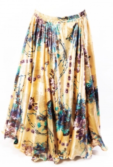 Belly dance exclusive satin print