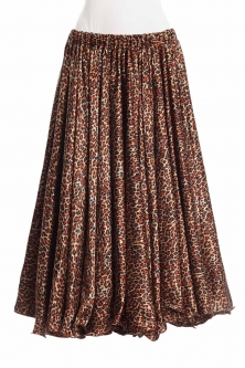 Belly dance exclusive satin print skirt - leopard