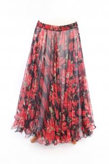 Belly dance fine silk chiffon skirt