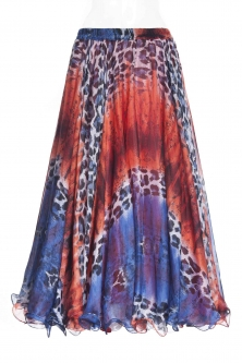 Belly dance fine silk chiffon skirt - funky britannica