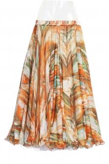 Belly dance fine silk chiffon skirt - modern muse
