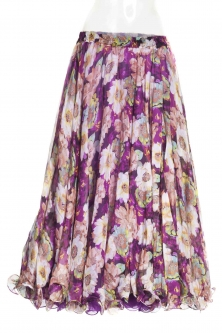 Belly dance fine silk chiffon skirt - flowerbomb