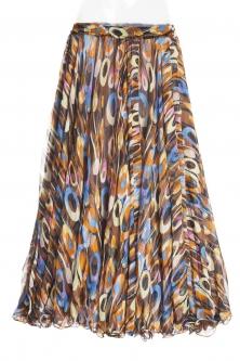 Belly dance fine silk chiffon skirt - multi funk