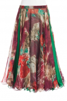 Belly dance fine silk chiffon skirt - jungle muse
