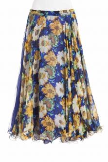 Belly dance fine silk chiffon skirt - flower eve