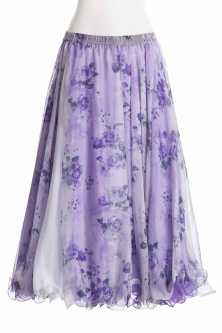 Belly dance fine silk chiffon skirt - lilac sweetheart