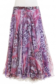 Belly dance fine silk chiffon skirt - young romance