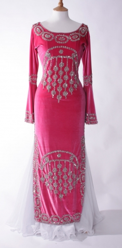 Belly dance fuchsia dress