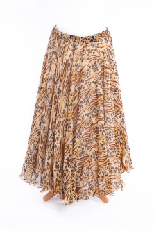 Belly dance printed skirt - leopard beauty