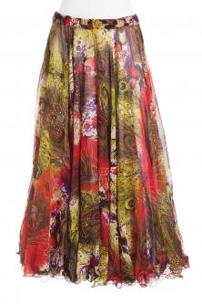 Belly dance luxury sari print skirt