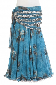 Belly dance printed skirt - marine bloom
