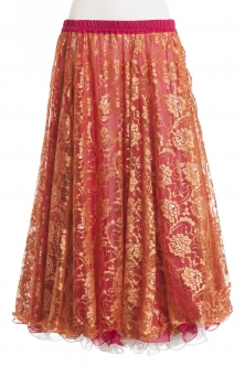 Belly dance luxury lace and chiffon skirt