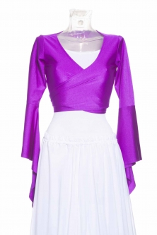 Belly dance lycra tie top - Purple