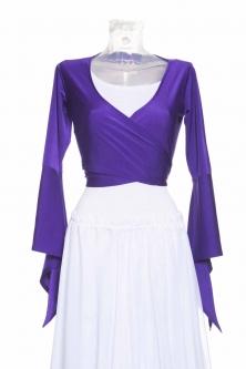 Belly dance lycra tie top - Dark purple