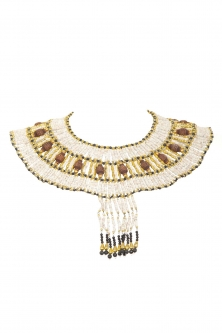 Belly dance pharonic necklace and earrings set