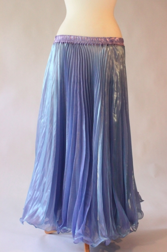 Belly dance pleated skirt - Pale Blue
