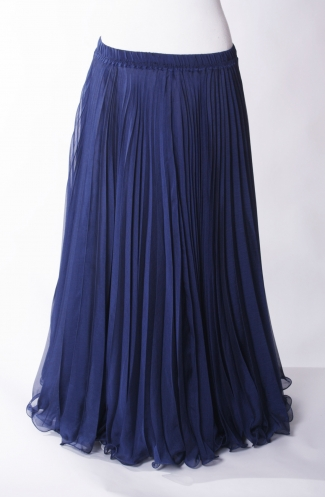 Belly dance pleated skirt - Navy