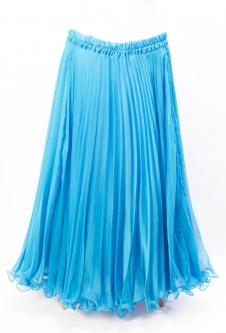Belly dance pleated skirt - light blue