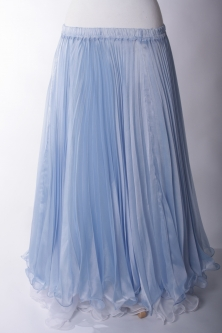 Belly dance pleated skirt - Powder Blue