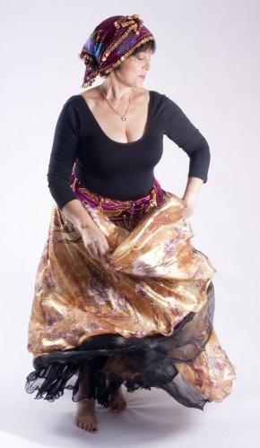 Belly dance printed skirt - sunkissed
