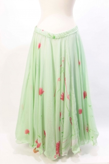 Belly dance printed skirt - springtime