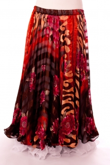 Belly dance printed skirt - hot delia passion