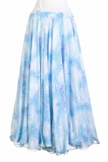 Belly dance printed skirt - lilies