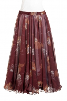 Belly dance printed skirt