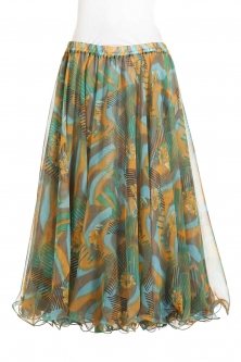 Belly dance printed skirt - jungle