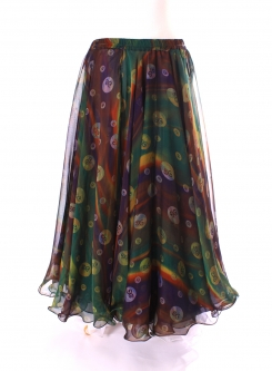 Belly dance printed skirt - astral dance party
