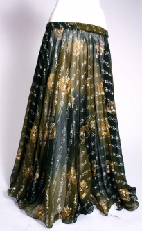 Belly dance printed skirt - forest ferns