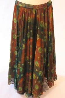 Belly dance printed skirt - astral dance party 2