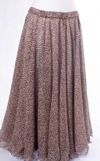 Belly dance printed skirt - leopard print