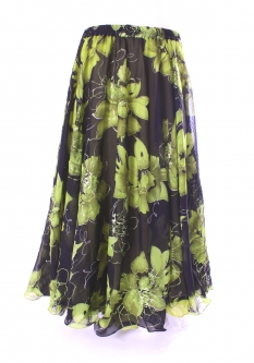Belly dance printed skirt - marvel moss sparkle