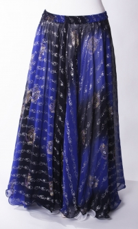 Belly dance printed skirt - midnight glory
