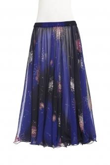 Belly dance printed skirt - royalty
