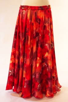 Belly dance printed skirt - autumn fire